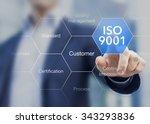iso 9001 standard for quality...   Shutterstock . vector #343293836