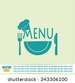 illustration frame with... | Shutterstock .eps vector #343306100