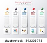 timeline infographics with... | Shutterstock .eps vector #343309793