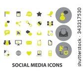 social media  blog  community ... | Shutterstock .eps vector #343317530
