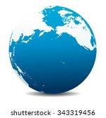 pacific rim north america ... | Shutterstock .eps vector #343319456