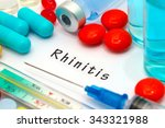 rhinitis   diagnosis written on ... | Shutterstock . vector #343321988