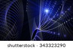 futuristic technology wave...   Shutterstock . vector #343323290