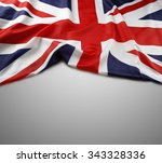 union jack flag on grey... | Shutterstock . vector #343328336