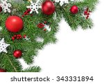 christmas decoration. | Shutterstock . vector #343331894