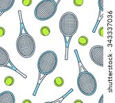 seamless pattern with sport... | Shutterstock .eps vector #343337036