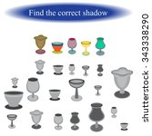 find the correct shadow  ... | Shutterstock .eps vector #343338290
