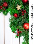 christmas decoration. | Shutterstock . vector #343338638