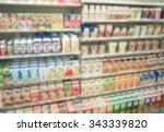 beverage at shelf in... | Shutterstock . vector #343339820