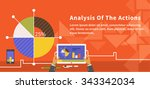 analysis of actions infographic.... | Shutterstock .eps vector #343342034