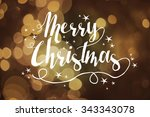 merry christmas greeting card... | Shutterstock . vector #343343078