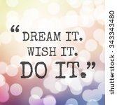 inspirational quote  ... | Shutterstock . vector #343343480
