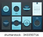 set of brochure  poster... | Shutterstock .eps vector #343350716