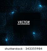abstract blue lights pattern... | Shutterstock .eps vector #343355984