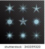 vector set of glowing light...