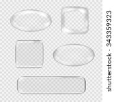 vector set of transparent glass ... | Shutterstock .eps vector #343359323