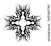 tattoo. pattern. design.... | Shutterstock .eps vector #343360790