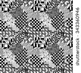 the seamless pattern graphic... | Shutterstock .eps vector #343360946
