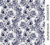 abstract elegance seamless... | Shutterstock . vector #343364378