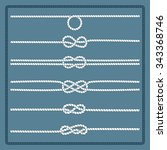 rope knots collection.... | Shutterstock .eps vector #343368746