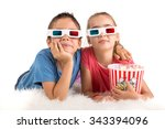 children's couple with 3d... | Shutterstock . vector #343394096