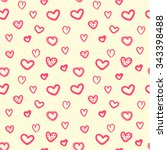 hearts seamless pattern...