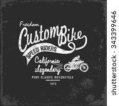 vintage motorbike race   hand...   Shutterstock .eps vector #343399646