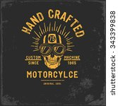 vintage motorbike race   hand... | Shutterstock .eps vector #343399838