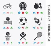 sport games  fitness icons.... | Shutterstock .eps vector #343404548