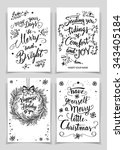 christmas greeting cards bundle ... | Shutterstock .eps vector #343405184