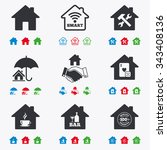 real estate icons. house...   Shutterstock .eps vector #343408136