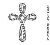 vector christian cross rope... | Shutterstock .eps vector #343411664