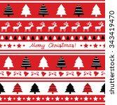 seamless christmas pattern for... | Shutterstock .eps vector #343419470