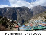 Small photo of Namche Bazaar view - popular place among trekkers in the Khumbu region, especially for altitude acclimatization, and is the gateway to the high Himalaya,Nepal