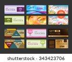 gift voucher template set | Shutterstock .eps vector #343423706