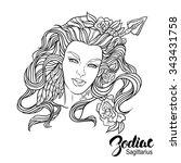 zodiac. illustration of... | Shutterstock . vector #343431758