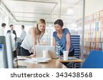 assistant and partner coffee... | Shutterstock . vector #343438568