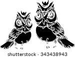 black pattern art of... | Shutterstock .eps vector #343438943