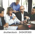 doctor meeting teamwork... | Shutterstock . vector #343439300