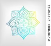 mandala color gradient.... | Shutterstock .eps vector #343440488