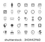 calendar time and event icons | Shutterstock .eps vector #343442960