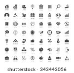 investment icons set | Shutterstock .eps vector #343443056