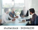 shot through office window ... | Shutterstock . vector #343446230