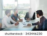 shot through office window ...   Shutterstock . vector #343446230