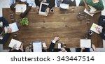doctor meeting teamwork... | Shutterstock . vector #343447514