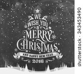 we wish you a merry christmas... | Shutterstock .eps vector #343453490