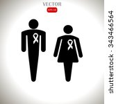 man and woman with awareness... | Shutterstock .eps vector #343466564