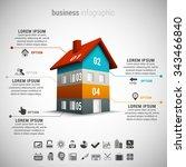 vector illustration of business ... | Shutterstock .eps vector #343466840
