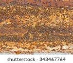 old rusty zinc plated  iron... | Shutterstock . vector #343467764