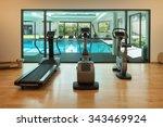 interior  gym of a modern house ... | Shutterstock . vector #343469924
